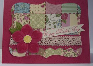 MothersDay rose red card